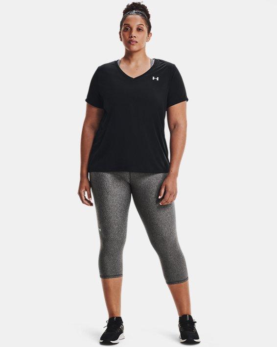 Women's UA Tech™ Short Sleeve V-Neck, Black, pdpMainDesktop image number 1