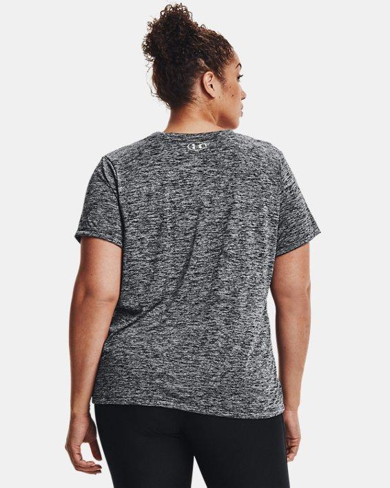 Women's UA Tech™ Twist V-Neck Short Sleeve, Black, pdpMainDesktop image number 2