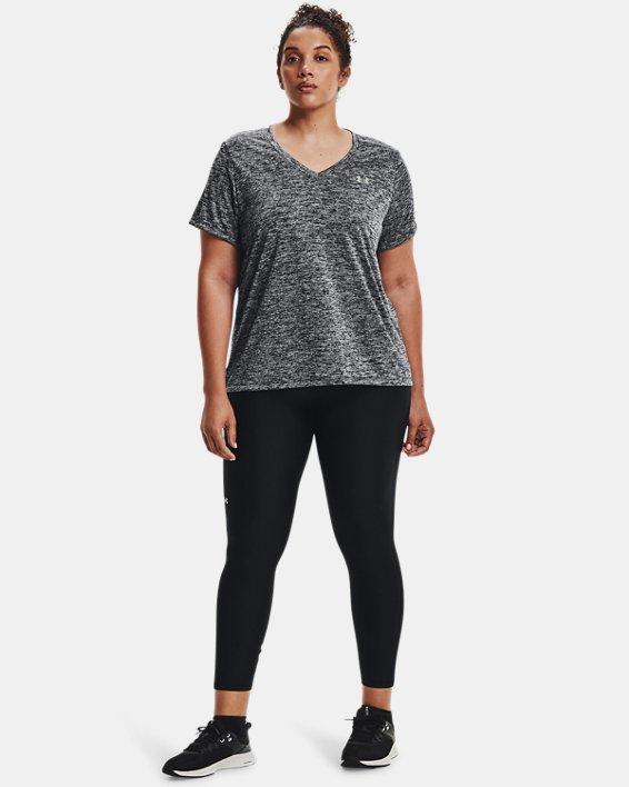 Women's UA Tech™ Twist V-Neck Short Sleeve, Black, pdpMainDesktop image number 1