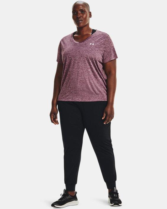 Women's UA Tech™ Twist V-Neck Short Sleeve, Purple, pdpMainDesktop image number 2