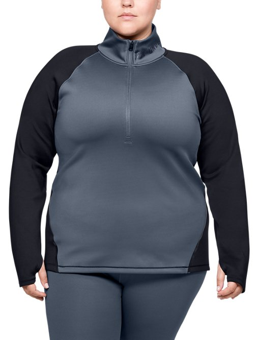 Under Armour Girls Double Knit 1//2 Zip