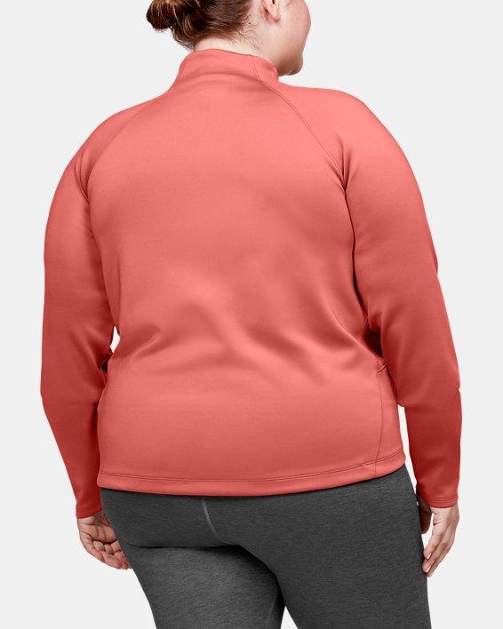 Women's ColdGear® Armour Full Zip Mock, Pink, pdpMainDesktop image number 2