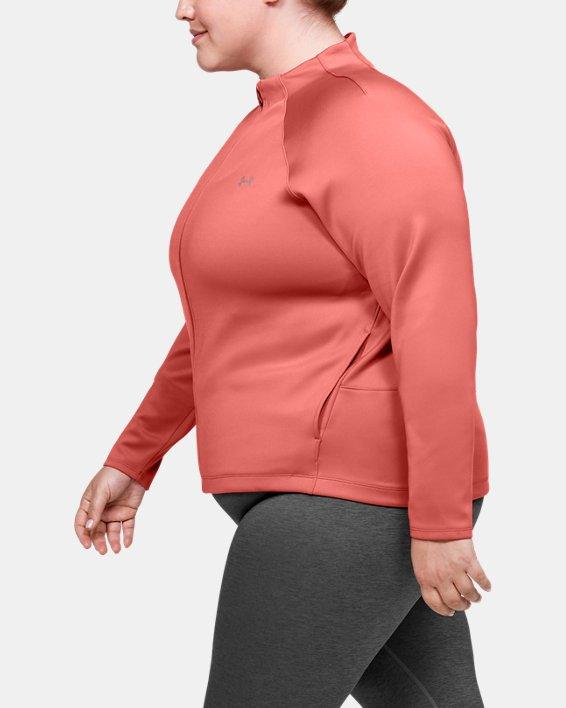 Women's ColdGear® Armour Full Zip Mock, Pink, pdpMainDesktop image number 3