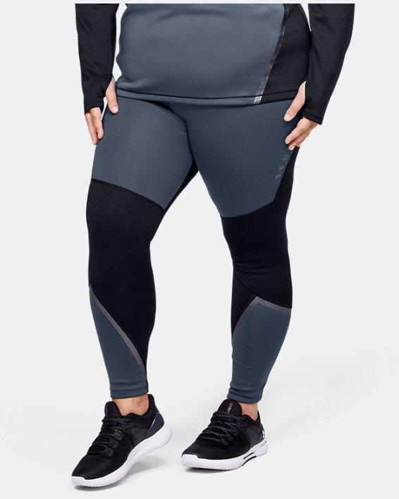 Women's ColdGear® Armour Graphic Leggings, Gray, pdpMainDesktop image number 1