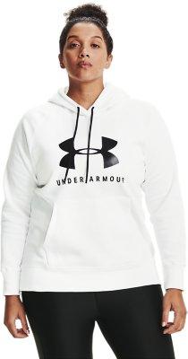 Under Armour Womens Cotton Blend Fleece Graphic Hoodie