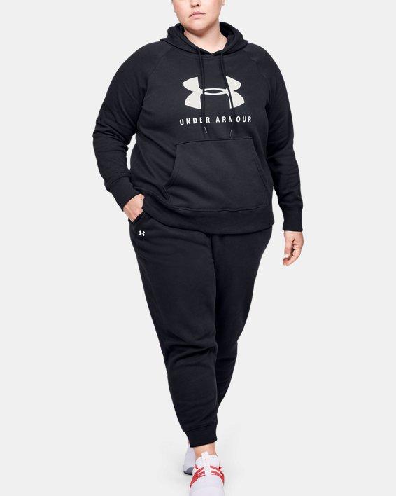 Pantalon UA Rival Fleece pour femme, Black, pdpMainDesktop image number 1