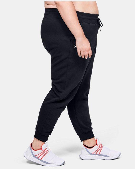 Pantalon UA Rival Fleece pour femme, Black, pdpMainDesktop image number 3