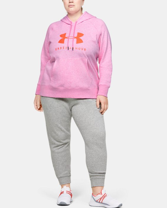 Women's UA Rival Fleece Pants, Gray, pdpMainDesktop image number 1