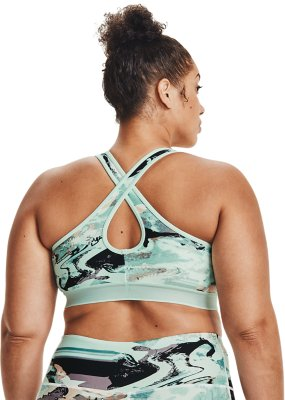 Details about  /NEW Under Armour UA Crossback  Mid Sports Strappy Bra Black Blue Padded MEDIUM M