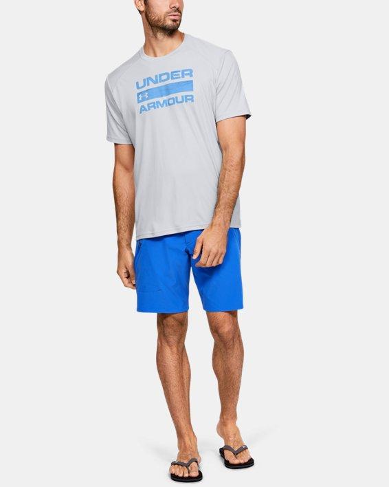 Men's UA Iso-Chill Stacked Short Sleeve, Gray, pdpMainDesktop image number 1