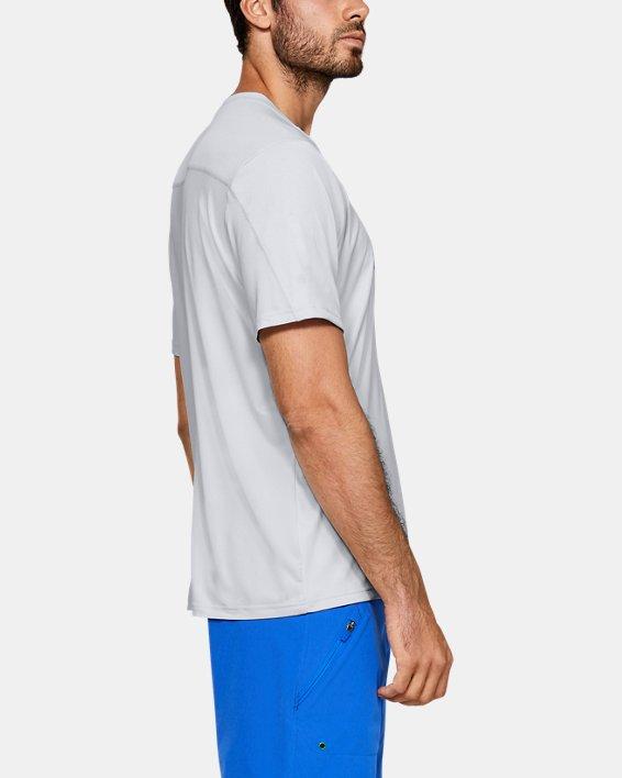 Men's UA Iso-Chill Stacked Short Sleeve, Gray, pdpMainDesktop image number 3