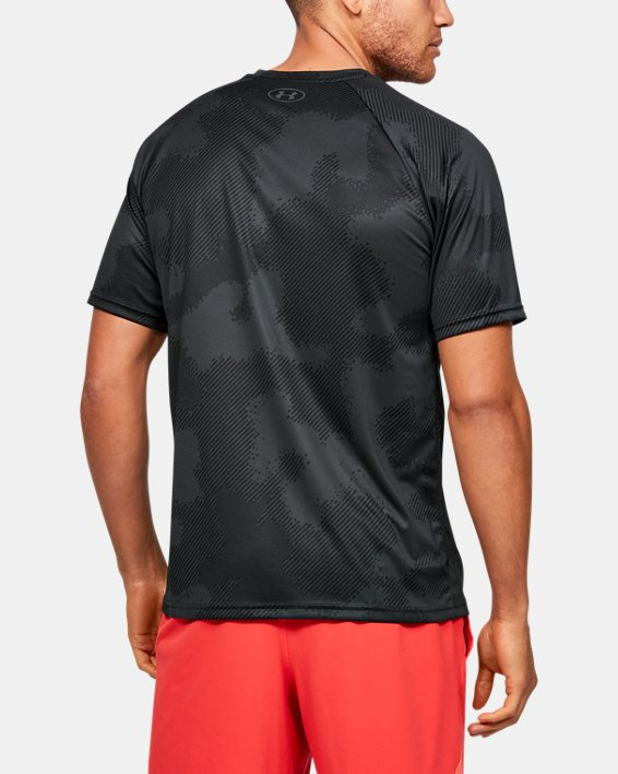Men's UA Velocity Printed Short Sleeve, Black, pdpMainDesktop image number 2