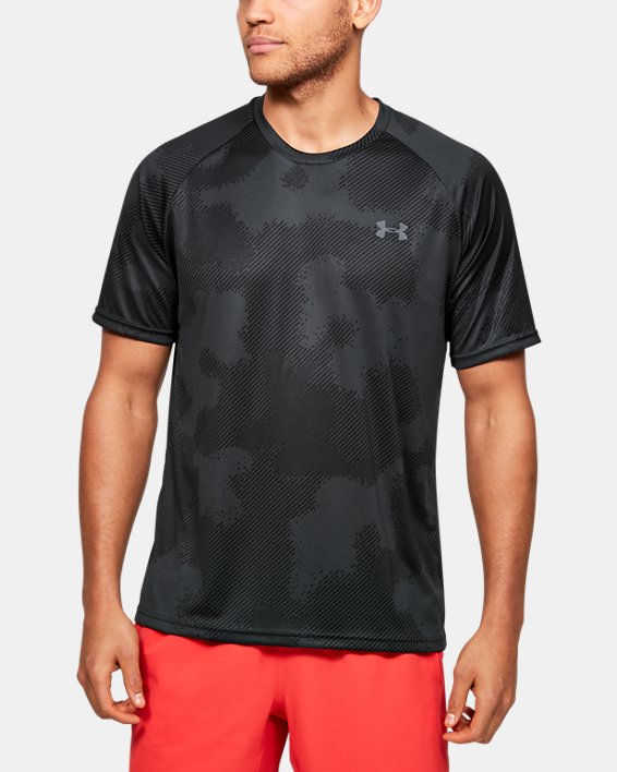 Men's UA Velocity Printed Short Sleeve, Black, pdpMainDesktop image number 0