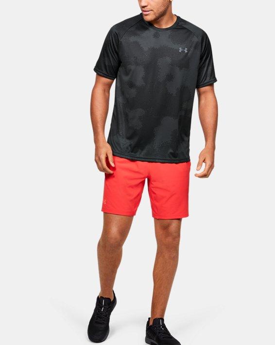 Men's UA Velocity Printed Short Sleeve, Black, pdpMainDesktop image number 1