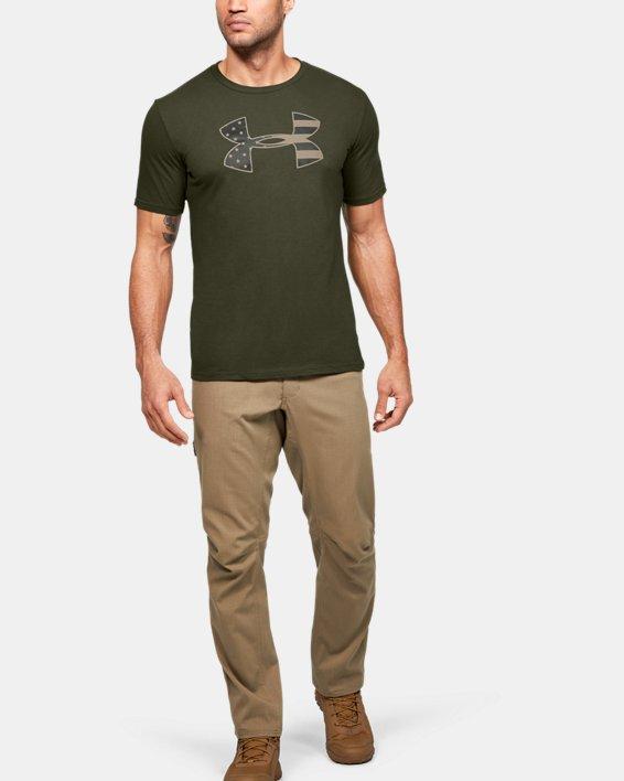 Men's UA Freedom Stars & Stripes T-Shirt, Green, pdpMainDesktop image number 1
