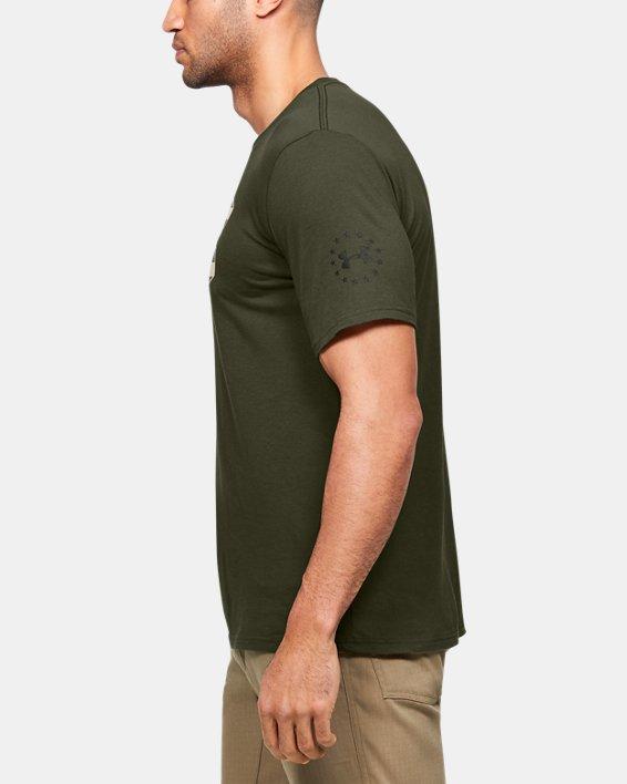 Men's UA Freedom Stars & Stripes T-Shirt, Green, pdpMainDesktop image number 3