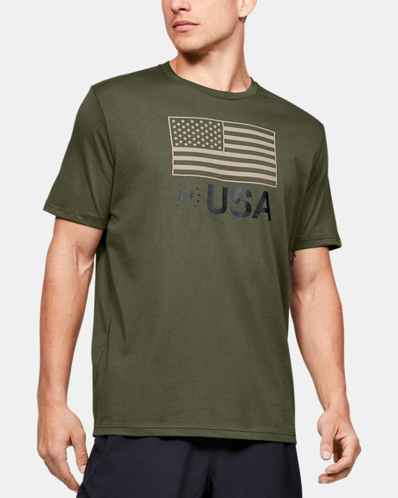 Men's UA Freedom Standard T-Shirt, Green, pdpMainDesktop image number 0