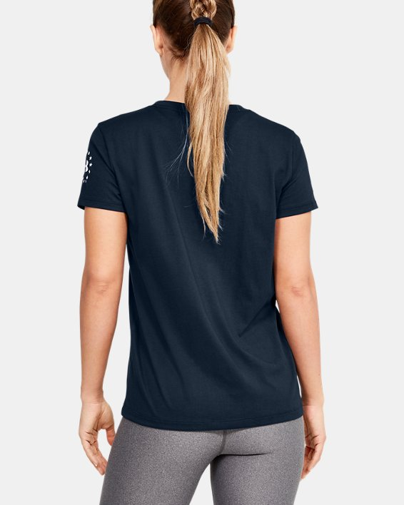 Women's UA Freedom Stars & Stripes T-Shirt, Navy, pdpMainDesktop image number 2