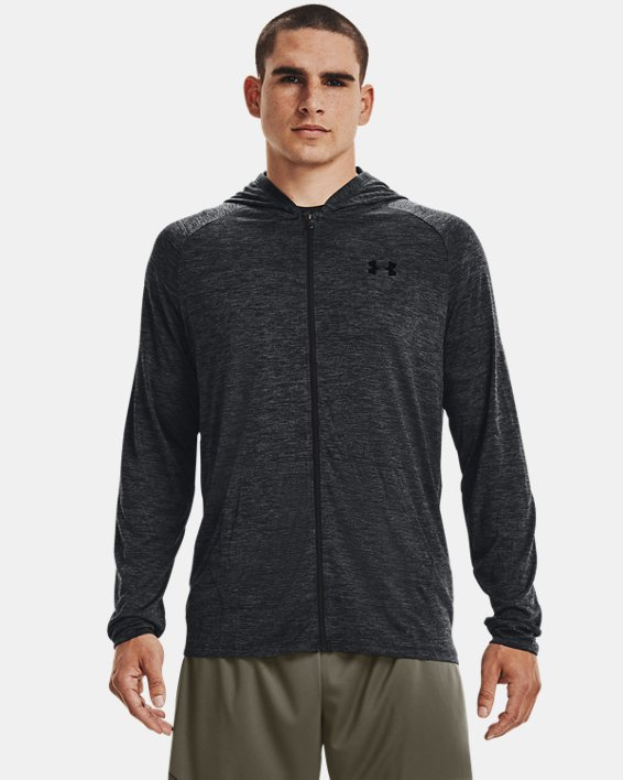 Men's UA Tech™ 2.0 Full Zip Hoodie, Black, pdpMainDesktop image number 1