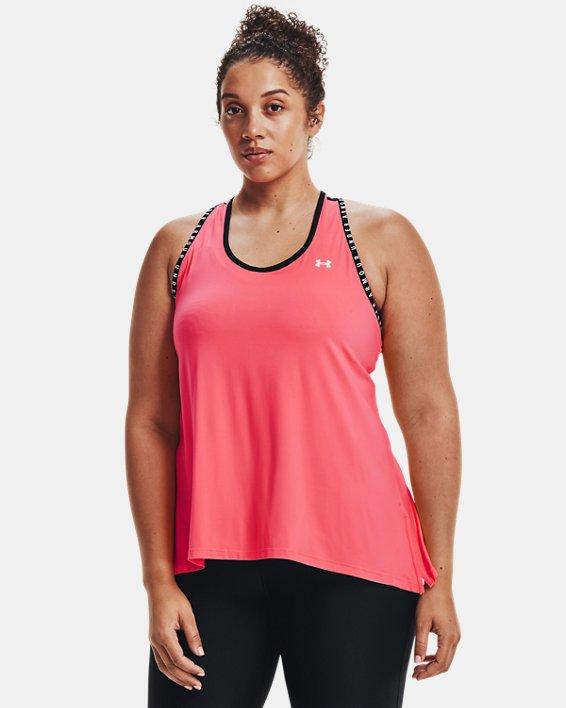 Damen UA Knockout Tanktop, Pink, pdpMainDesktop image number 2