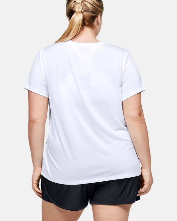 Women's UA Tech™ Logo Graphic Short Sleeve, White, pdpMainDesktop image number 2