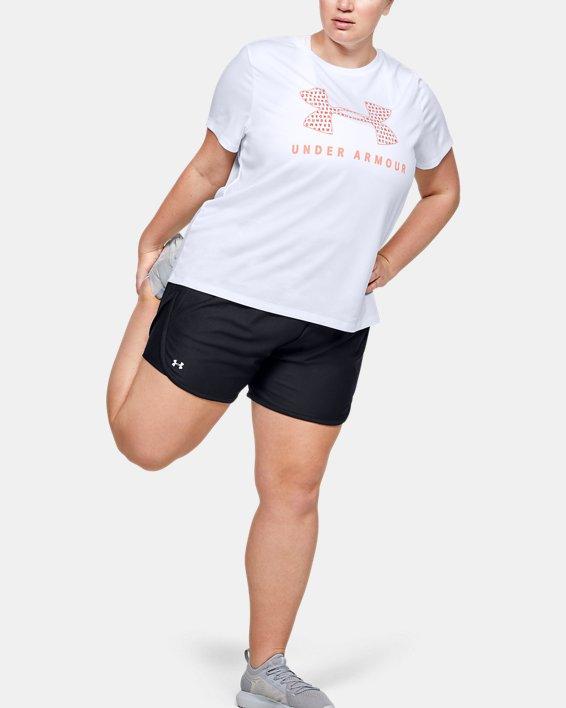 Women's UA Tech™ Logo Graphic Short Sleeve, White, pdpMainDesktop image number 0
