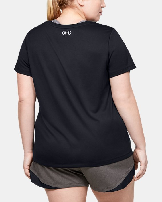 Women's UA Tech™ Branded Fit Kit Short Sleeve, Black, pdpMainDesktop image number 2