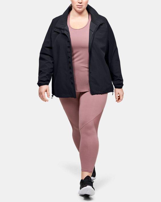 Women's UA RECOVER™ Woven Full Zip, Black, pdpMainDesktop image number 0