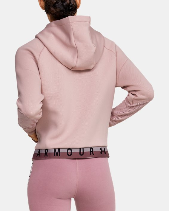 Women's UA /MOVE Mesh Inset Full Zip, Pink, pdpMainDesktop image number 2