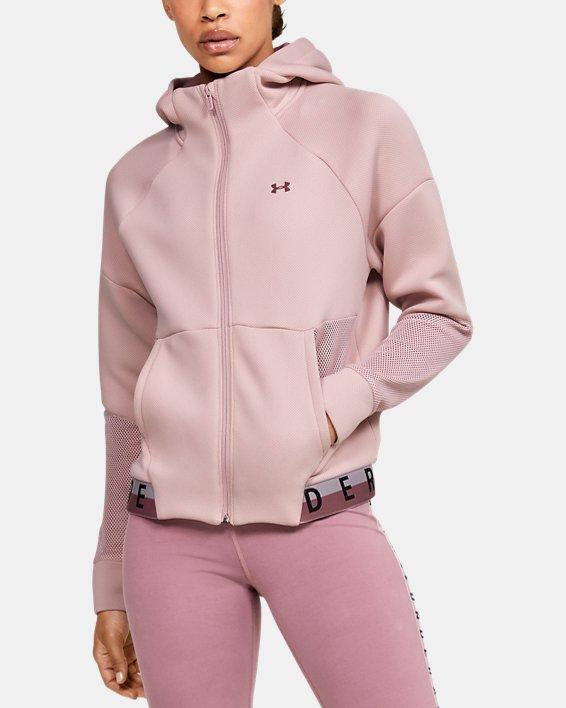 Women's UA /MOVE Mesh Inset Full Zip, Pink, pdpMainDesktop image number 0