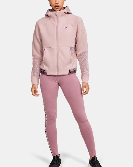 Women's UA /MOVE Mesh Inset Full Zip, Pink, pdpMainDesktop image number 1