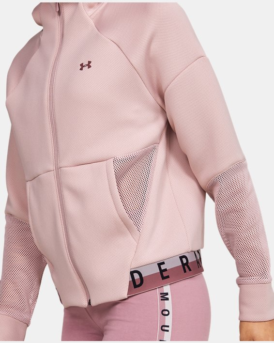 Women's UA /MOVE Mesh Inset Full Zip, Pink, pdpMainDesktop image number 5