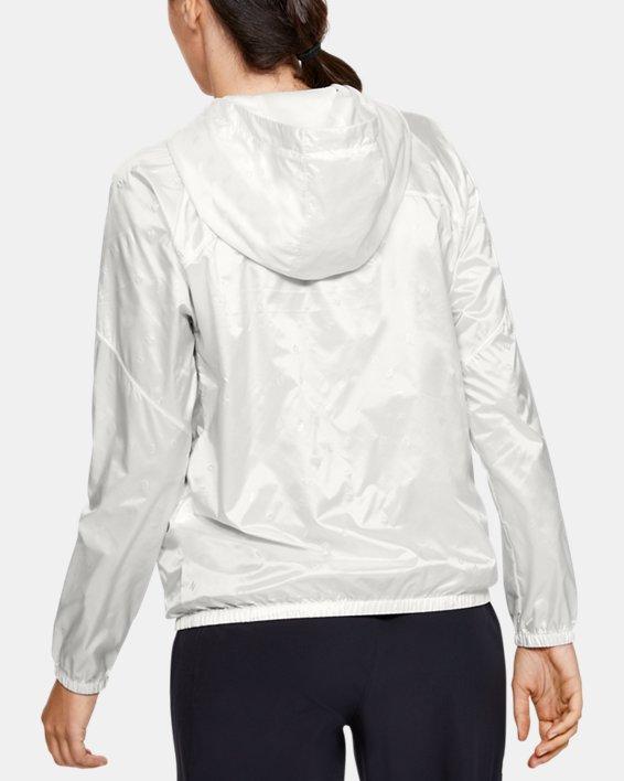 Women's UA Woven Translucent Full Zip, White, pdpMainDesktop image number 2