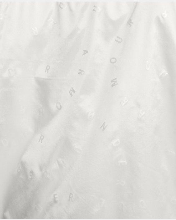 Women's UA Woven Translucent Full Zip, White, pdpMainDesktop image number 5