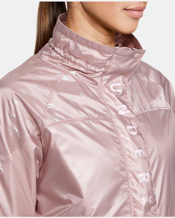 Women's UA RECOVER™ Woven Iridescent Full Zip, Pink, pdpMainDesktop image number 6