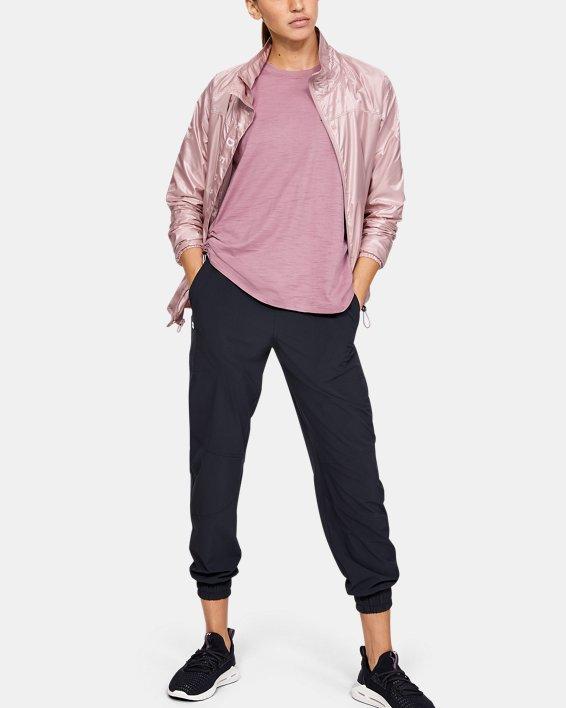 Women's UA RECOVER™ Woven Iridescent Full Zip, Pink, pdpMainDesktop image number 0