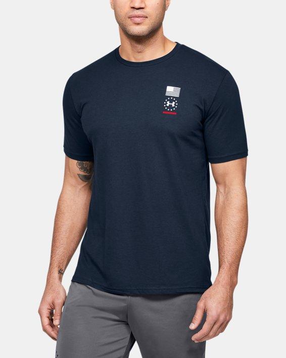 Men's UA Freedom USA Back T-Shirt, Navy, pdpMainDesktop image number 0
