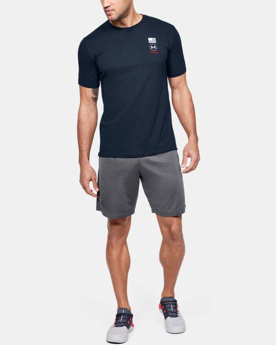 Men's UA Freedom USA Back T-Shirt, Navy, pdpMainDesktop image number 1