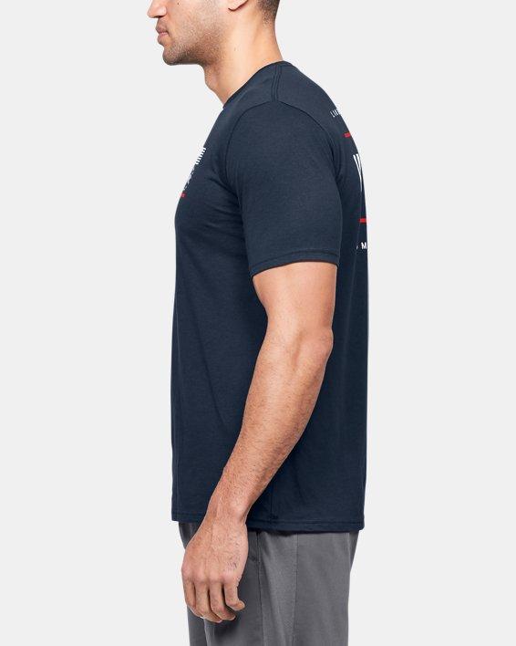 Men's UA Freedom USA Back T-Shirt, Navy, pdpMainDesktop image number 3