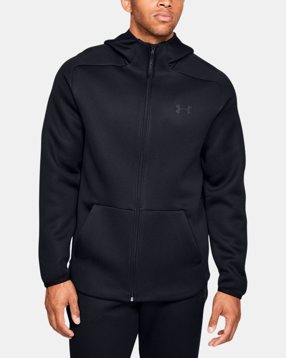 Men's UA /MOVE Full Zip Hoodie, Black, pdpMainDesktop image number 1