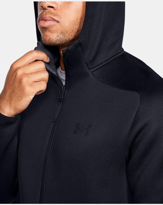 Men's UA /MOVE Full Zip Hoodie, Black, pdpMainDesktop image number 5