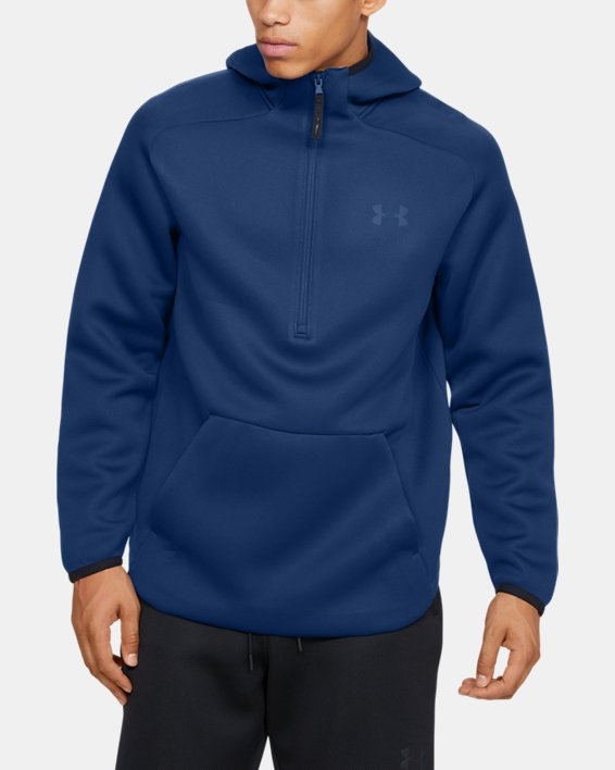 Men's UA /MOVE ½ Zip Hoodie, Blue, pdpMainDesktop image number 1