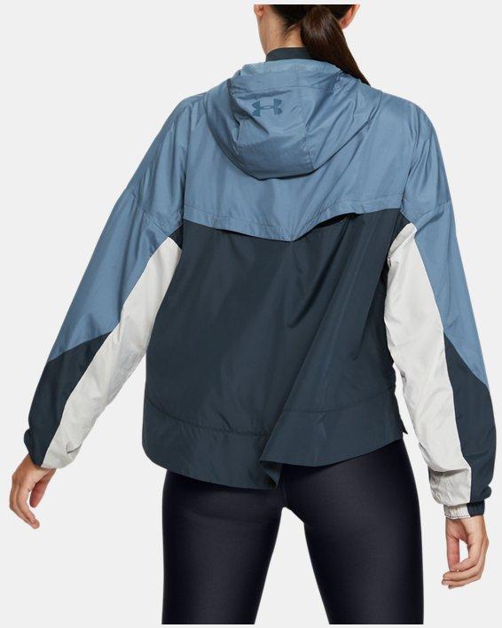 Women's UA Always On Woven Jacket, Gray, pdpMainDesktop image number 2