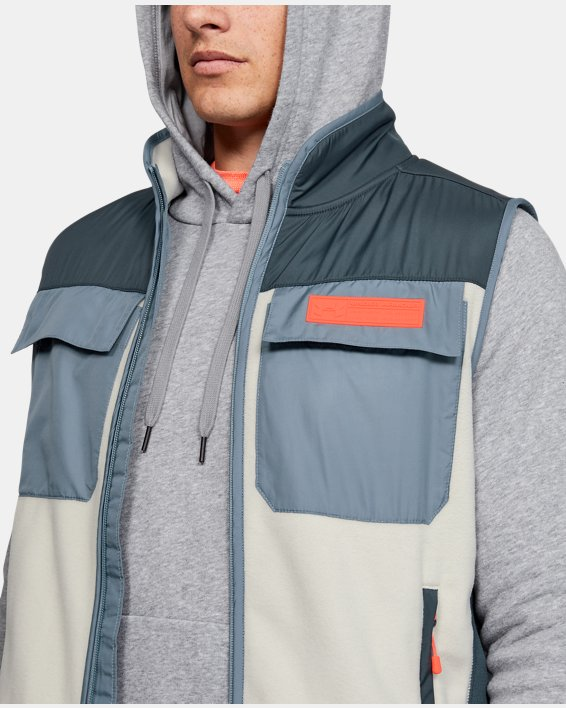 Men's UA Always On Polar Fleece Vest, Gray, pdpMainDesktop image number 6