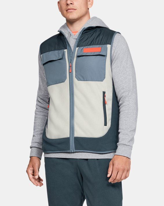 Men's UA Always On Polar Fleece Vest, Gray, pdpMainDesktop image number 0
