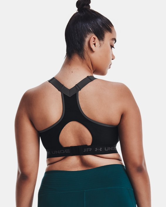 Women's Armour® High Crossback Sports Bra, Black, pdpMainDesktop image number 8