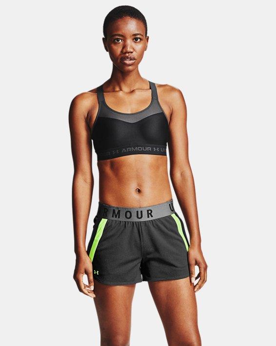 Women's Armour® High Crossback Sports Bra, Black, pdpMainDesktop image number 0