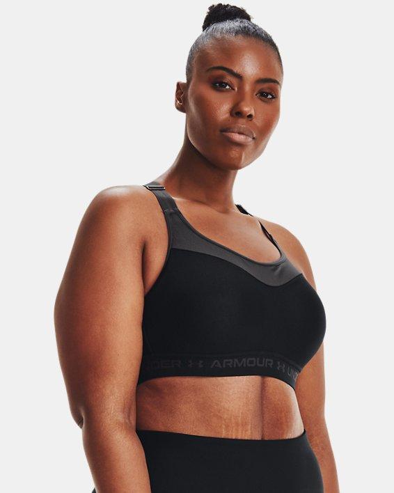 Women's Armour® High Crossback Sports Bra, Black, pdpMainDesktop image number 4