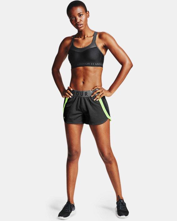 Women's Armour® High Crossback Sports Bra, Black, pdpMainDesktop image number 2