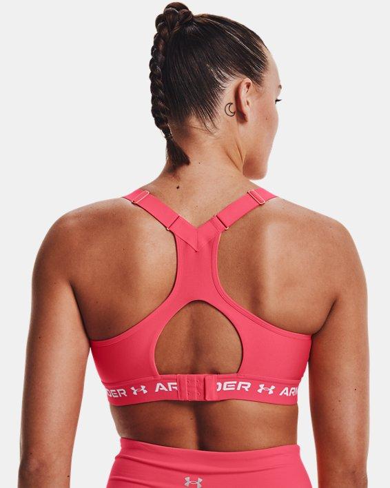 Damen Armour® High Crossback Sport-BH, Pink, pdpMainDesktop image number 5